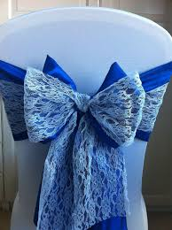 Royal Blue Chair Sashes 2017 2016 Royal Blue Lace Chair Bow Sashes Vintage Romantic Chair