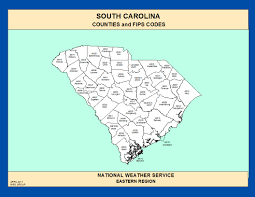 Beaufort Sc Map Maps South Carolina Counties And Fips Codes