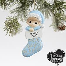 personalized precious moments ornament for baby boy gifts
