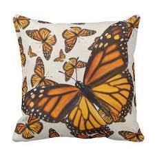 monarch butterflies burlap pillow 1 of a pair personalize