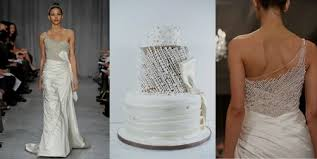 pictures of wedding cakes inspired by iconic wedding dresses