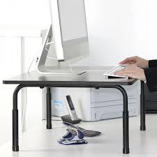 ergonomic standing workstation table riser medium forest av