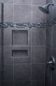 Large Wall Pictures by I Like This Shower Gray Tile Tiny Subway Tiles Built In Shelves