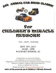 5th annual car show classic for children u0027s miracle network