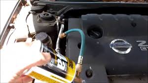 add freon to nissa altima 2 5l ac system youtube