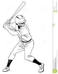 baseball player ready to strike stock vector image 69516060