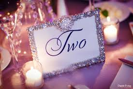 silver frames for wedding table numbers wedding menus with rhinestones and ben estancia resort la