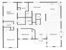 ranch house floor plans open plan ranch style open floor plans with basement bedroom floor plans