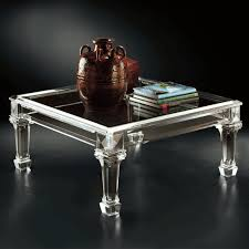 square lucite coffee table allan knightacrylic cocktail tables bordeaux cocktail table