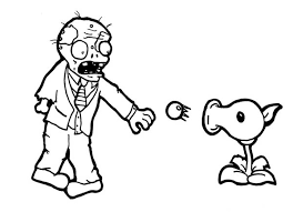 how to draw plant vs zombie coloring page coloring sky