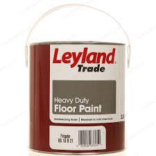 Red Floor Paint Leyland Trade Heavy Duty Floor Paint 2 5l Frigate Mid Grey