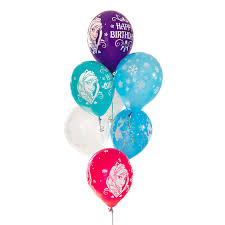 Snowflake Balloons Disney Frozen Happy Birthday Balloon Pack 8 Balloons Co Uk