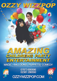 clown entertainer for children s kids party entertainer childrens entertainer dorset ozzy wizzpop