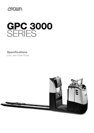 order picker gpc 3000 series crown pdf catalogue technical