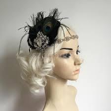 peacock headband vintage shiny drop feather peacock headband 1920s gatsby