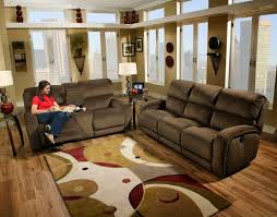 Microfiber Reclining Sofa Sets Living Room Brown Reclining Sofa Set Brown Leather Sofa And