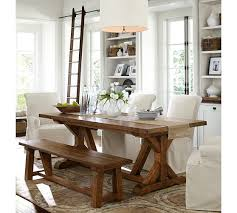 pottery barn farmhouse table pottery barn dining tables polyflow
