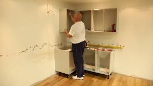 how to fit howdens corner fillet fitting the wall corner post kitchen units