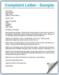 complaint format letter download the complaint letter template