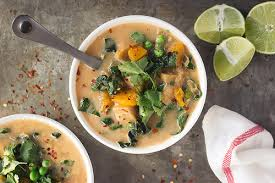 slow cooker coconut red curry vegetable soup tasty yummies