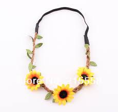sunflower headband garland sun flower floral hair band