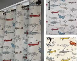 Airplane Shower Curtain Boys Shower Curtain Etsy