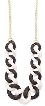black link necklace images Wholesale gold metal chain black white plastic link necklace gif