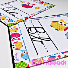 Student Desk Name Tags by Flapjack Educational Resources Lots Of Owls Classroom Theme