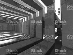 Interior Concrete Walls by Dark Basement Empty Room Interior Concrete Walls Stock Photo