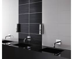 Men Bathroom Ideas by Likeable Men Bathroom Design Feat Black Wood Panels And Paired