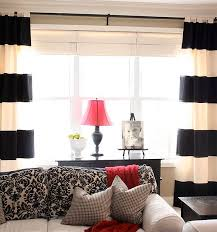Black Grey And White Curtains Ideas Creative Black And White Patterned Curtain Ideas