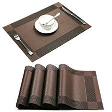 Leather Placemats For Conference Table Placemat U Artlines Crossweave Woven Vinyl Non Slip