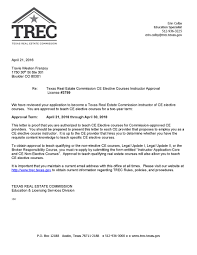 texas real estate commission trec approves internachi as course