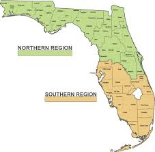 Map Of North Florida Counties Community Supervision Facilities Regional Map