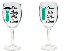 his hers wine glasses personalized his hers wine glasses bridal shower gift
