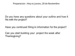 Questions About Thanksgiving Preparacion Hoy Es Jueves 13 De Noviembre Do You Have Questions