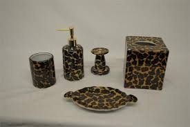 Camo Bathroom Sets Impressive Leopard Bathroom Accessories For Good Looking Animal