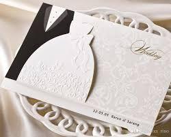 Popular Personal Wedding Invitation Cards Personalized Wedding Invitations Cards Traditional Tuxedo Dress