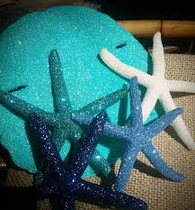 coastal ornaments glitter sparkle sand dollar