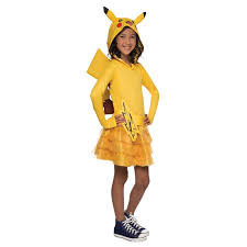 Quick Halloween Costumes For Teens Pokemon Girls Pikachu Hoodie Dress Buycostumes Com