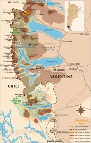 Map Argentina Map Of Patagonia Glaciers Argentina Excepcion