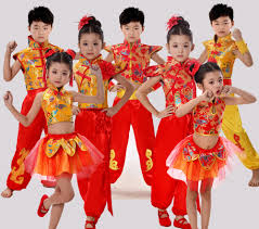 traditional chinese dance costume children national performing