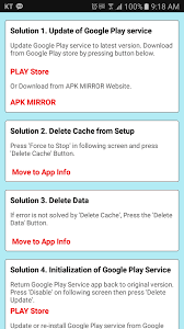 play service apk services errors help android apps on play