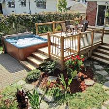 amenagement piscine exterieur aménagement avec piscine hors terre et spa contemporain