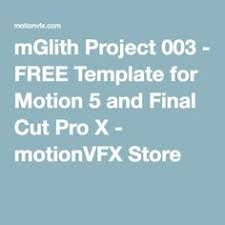 free apple motion and final cut pro x templates freebies for
