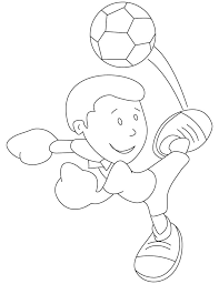 mickey kicking soccer ball coloring pages download free mickey