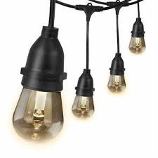 Commercial Grade Patio Light String by Patio Commercial Grade String Lights 48 Ft Porch String Lights