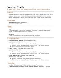 Activity Resume Template Activities Resume Template 17 Best Ideas About High Resume