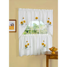 Chesapeake Tie Up Shade by Achim Sheer Sunshine 36 In L Polyester Window Curtain Set In