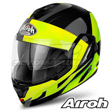 airoh motocross helmets airoh rev fusion flip up helmet yellow gloss settantadue it